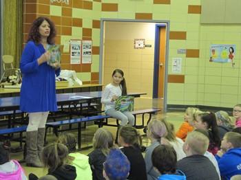 Author Visits Reynolds Elementary School