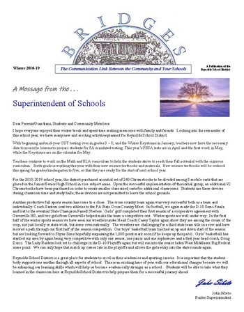 BRIDGES 2018-19 Winter Newsletter