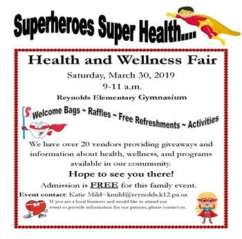 Health & Wellness Fair at Reynolds Elem.