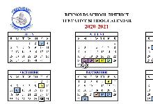 2020-2021 RSD School Calendar