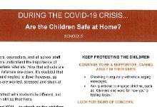 Covid-19 - Are Children Safe at Home (Schools)