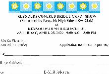 RHS Covered Bridge CRAFT SHOW - 4/25/2020