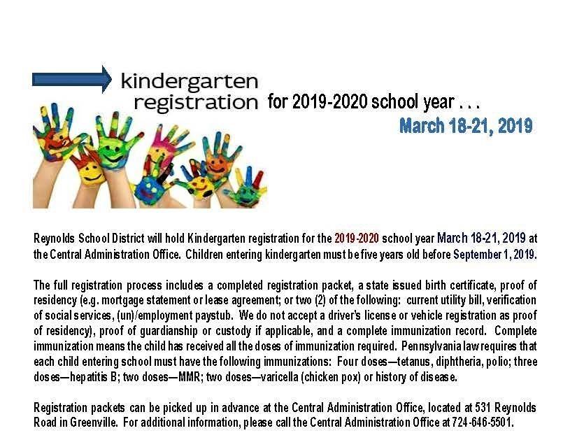 K registration 19-20
