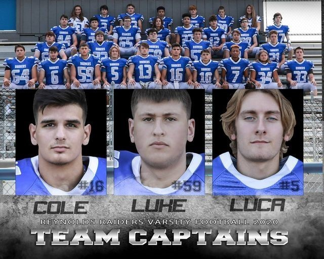 2020 FB team captains